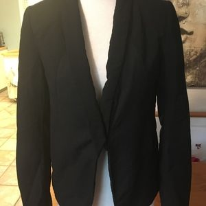 Light partially-lined blazer with cool cutout